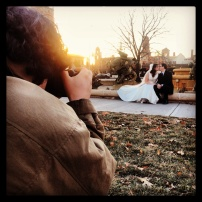 My run view 12/12/13 - Marco photographs Sam and Michelle, who got married last summer at the Horse Fountain in Kansas City, Mo.