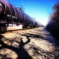 My run view 1/19/14 - West Bottoms train tracks, Kansas City, Kan.
