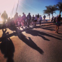 My run view 2/16/14 - A1A 1/2 marathon, Ft. Lauderdale, Florida