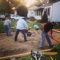 My run view 9/22/14 - driveway in progress. We got some hard workers here. Westwood, Kan. © Sally Morrow Photography